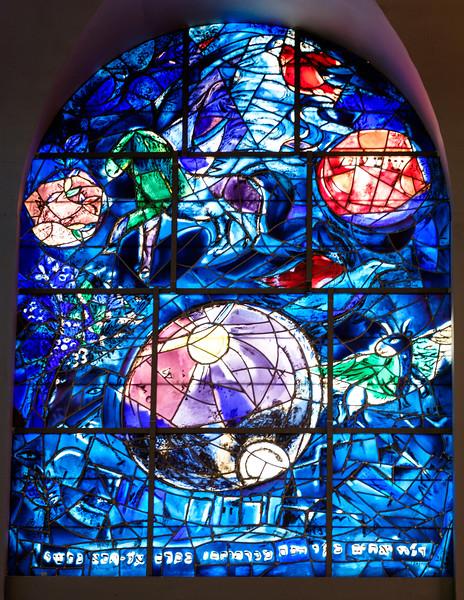 Simeon. The Chagall windows at the Hadassah Hospital synagogue, Ein Kerem, Jerusalem