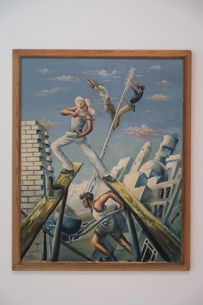 "Tel Aviv Museum of Art: Moshe Matosovsky, ""Construction Workers"" (1931)"