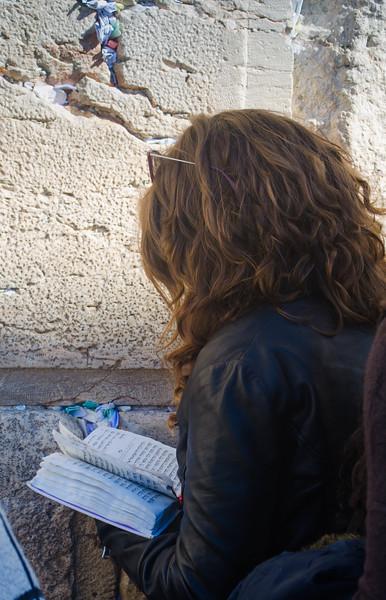 Prayer at the Western Wall, Jerusalem