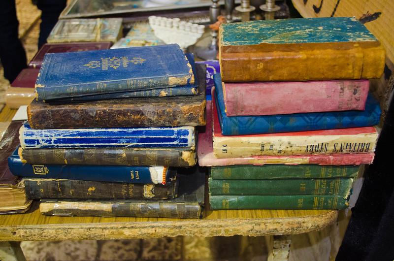 Books in a Market in Tzfat