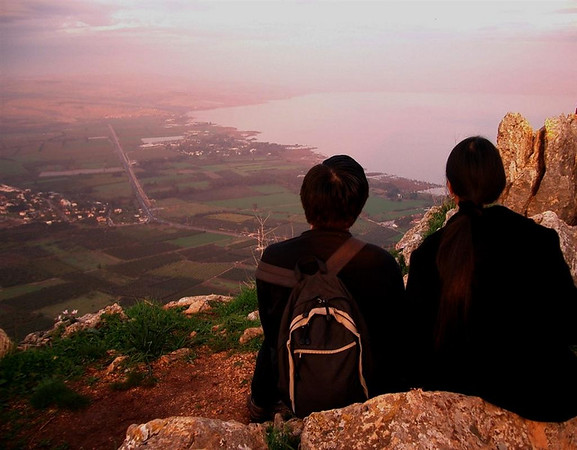 Mt. Arbel overlooking Sea of Galilee