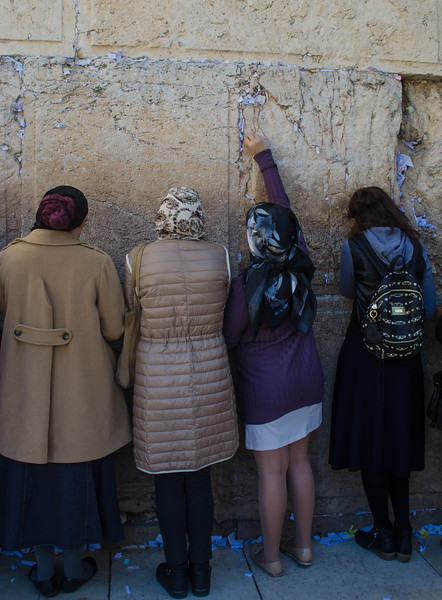 Prayer at the Western Wall, Jerusalem