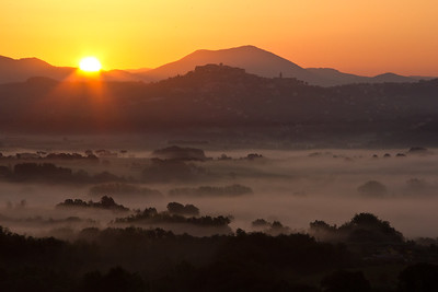 Dawn over the Prenestine Hills, east of Rome.