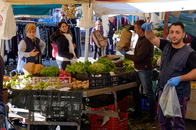 Market day in Genazzano.