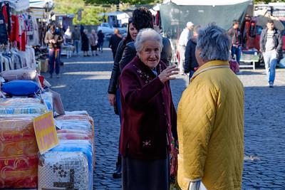 Market day in Genazzano.