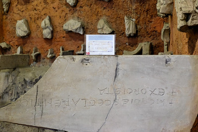 Church and catacombs of St Sebastian : fragments of early Christian tombs.