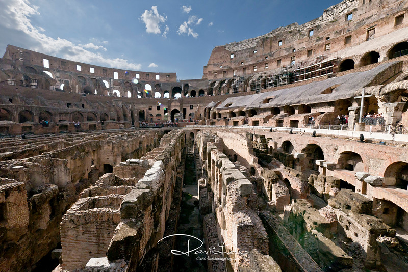 Coliseum, showing two basements  housing the animals.