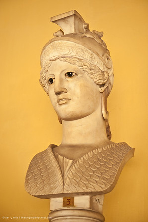 Bust of Athena with marble eyes, Vatican Museum, Italy