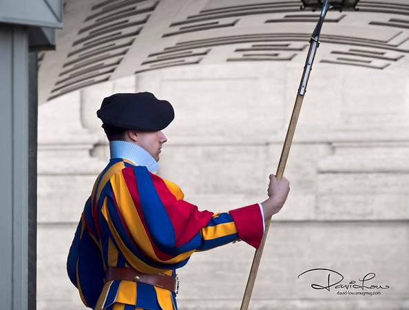 A Swiss guarding the Vatican