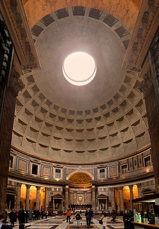 Interior of the Pantheon, Rome, Italy