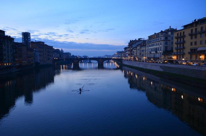 Kayak on the Arno