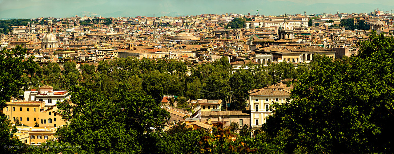 Overview of Rome, Italy