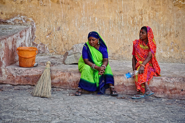 Resting at the Amber Fort
