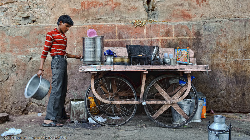 Selling Chai in Jaipur