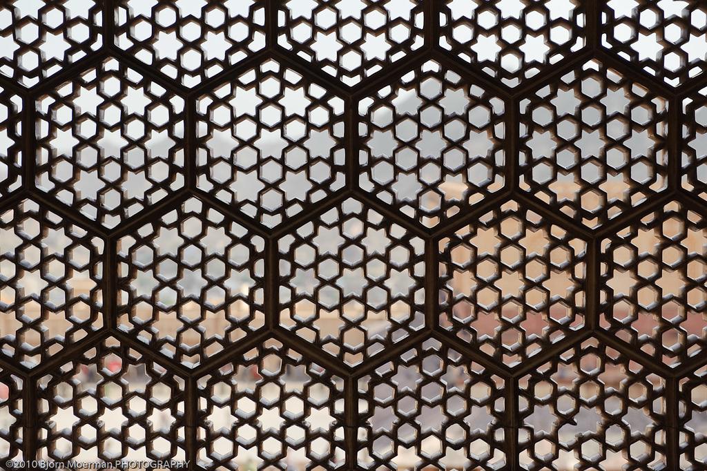Mughal window design at Amber Fort
