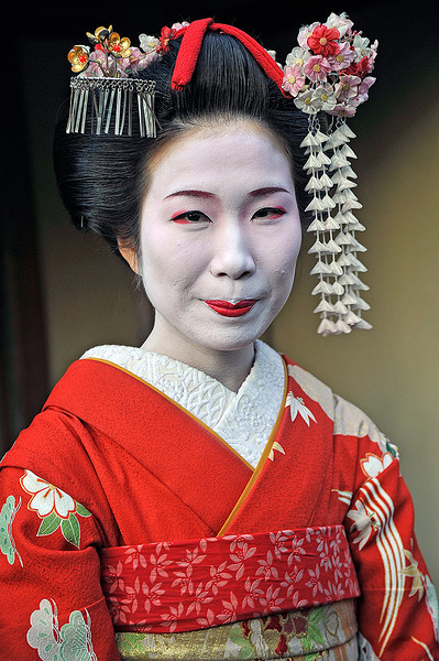 I want to be a Geisha. Kyoto, Japan