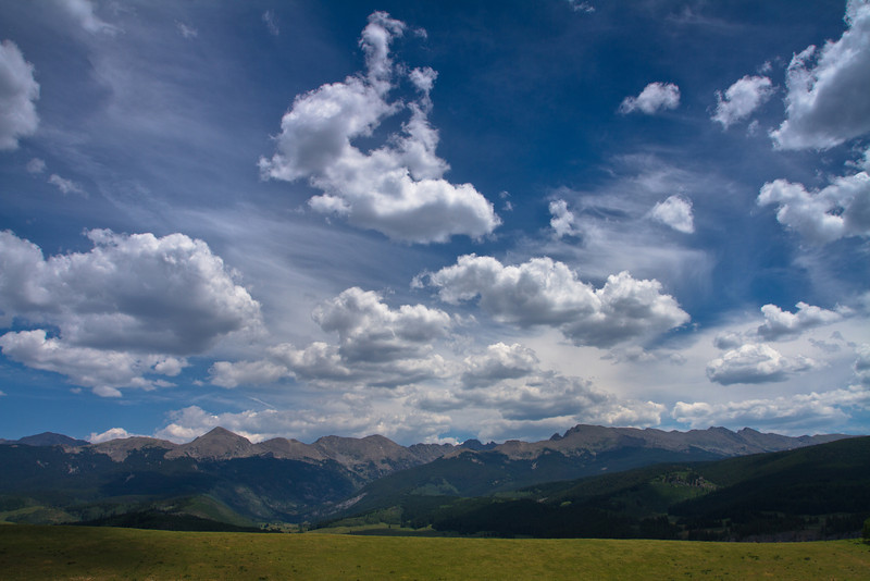 The beautiful Sawatch Mountains on the way to Hagerman Pass, west of Leadville, Colorado.