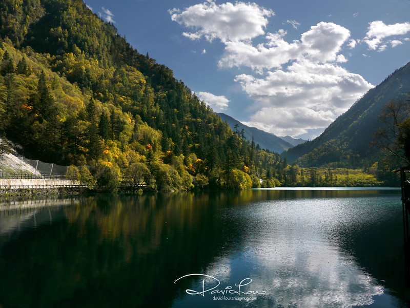 Panda Lake - Panda Lake (Xiongmao Hai) is a beautiful lake in various shades of blue and green at 2,587m altitude. Panda Lake is said to be a watering hole for giant pandas in the eighties before bamboo shoots die off.