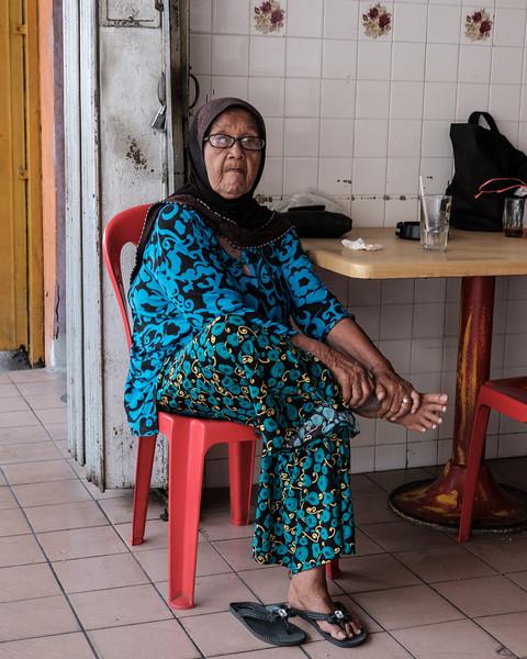 Malaysian grandma on a break