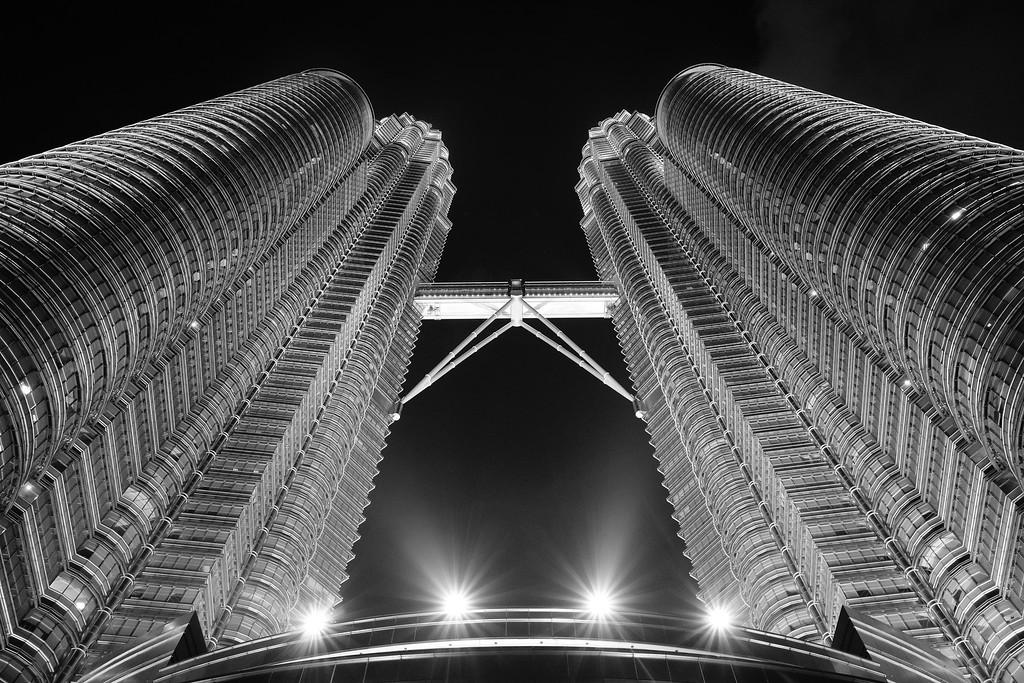 Petronas Towers by night - Kuala Lumpur