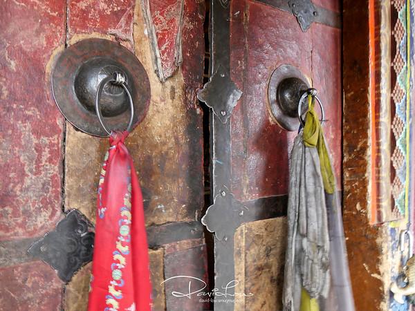 Door to the main Korzok Monastery
