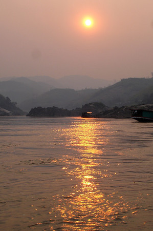 Sunset at Pakbang, Laos