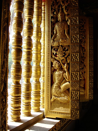window, Royal Palace Museum Temple, Luang Prabang, Laos