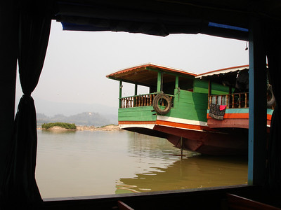 In Laos, starting a 2 day trip down the Mekong to Luang Prabang near Chiang Khong, Thailand
