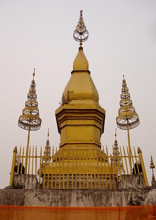temple atop Mt Phu Si, Luang Prabang, Laos