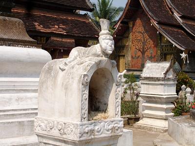 in a monastery temple, Luang Prabang, Laos