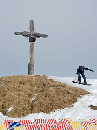Cross near Brundlkopf