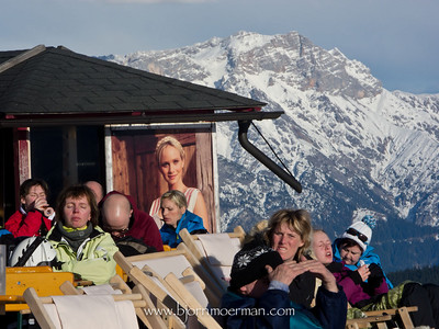Enjoying the sun on top of the mountain