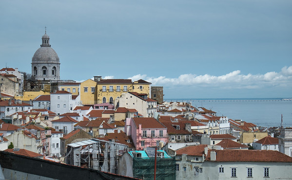 Overlooking Lisbon from Alfama