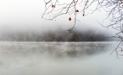 Early Morning Fog Lake Logan