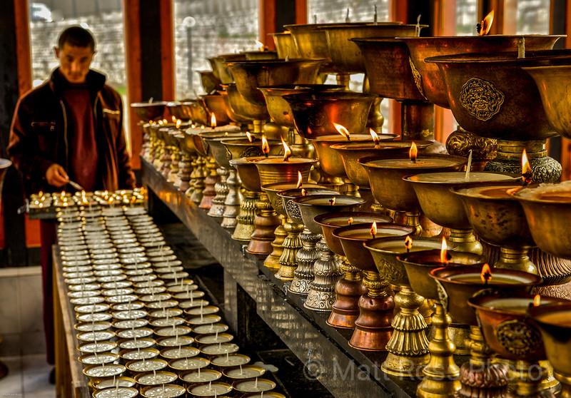 BUTTER LAMPS, BHUTAN