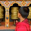 BHUTAN PRAYER WHEELS,  TRONGSA , BHUTAN