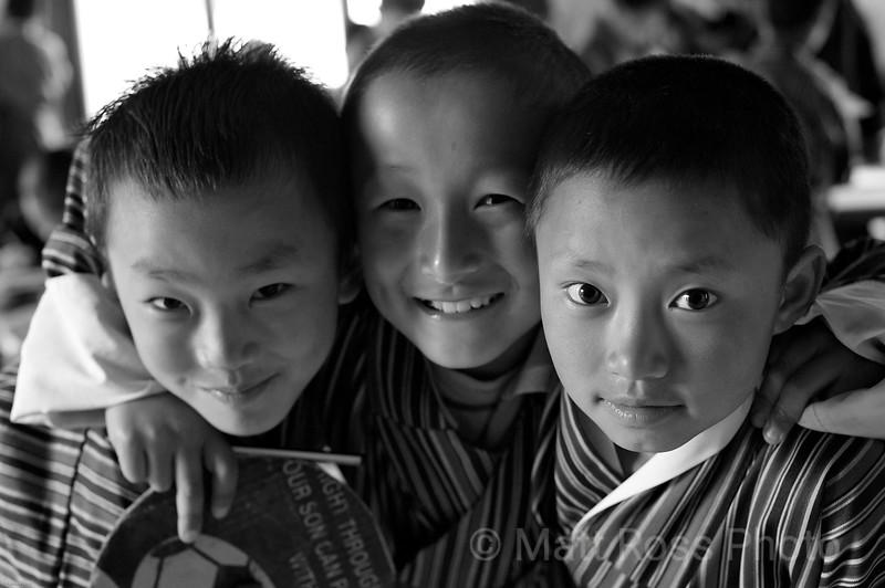 BHUTAN SCHOOL BOYS