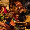 HINDU PILGRIMS, AT THE GANGA AARTI