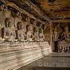 ELLORA CAVE 12, BUDDHAS IN PREACHING ATTITUDE