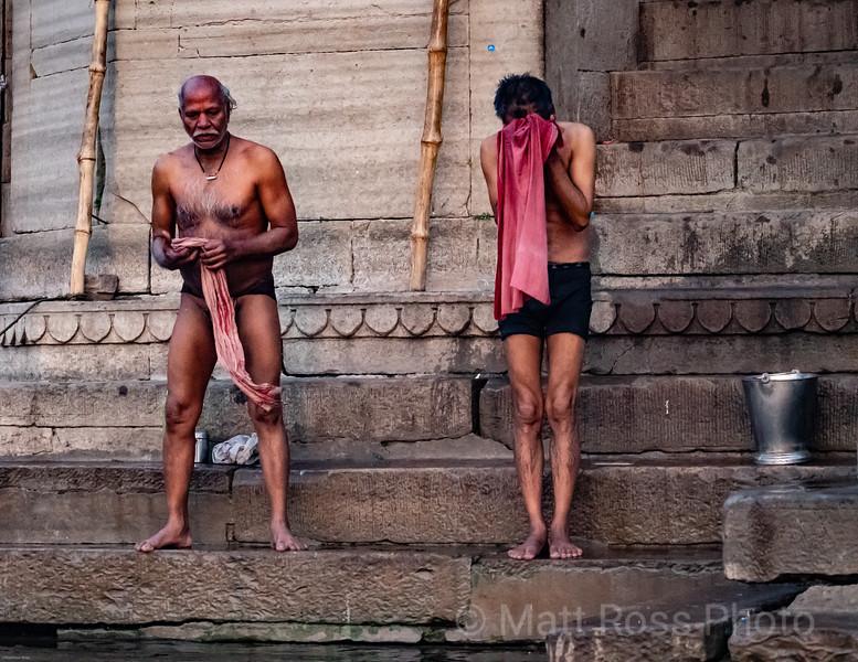 HINDU MAN, BATHING IN THE GANGES