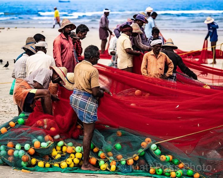 GATHERING NETS, INDIAN FISHERMEN