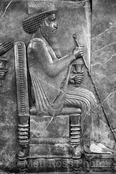 DARIUS ON THE THRONE, APADANA BAS-RELIEF, PERSEPOLIS