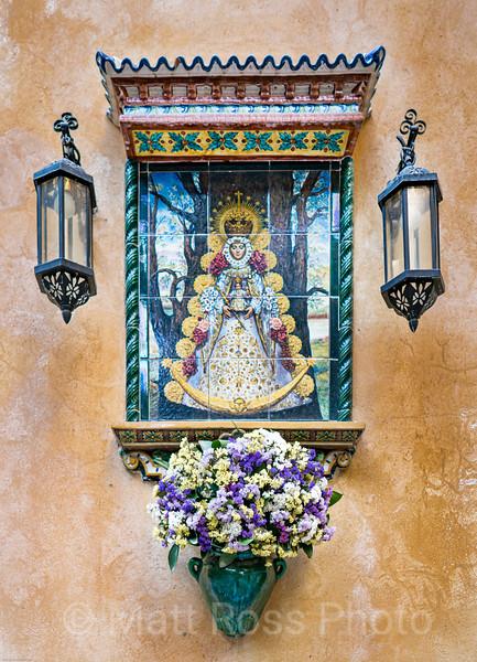 TILE RETABLO, THE WEEPING VIRGIN, (VIRGEN DE LA MACARENA, a.k.a. LA ESPERANZA