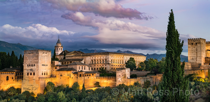 VIEW OF THE ALHAMBRA, TWILIGHT