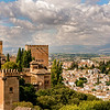 VIEW OF THE ALBAICIN & THE ALCAZABA, FROM THE ALHAMBRA GARDENS