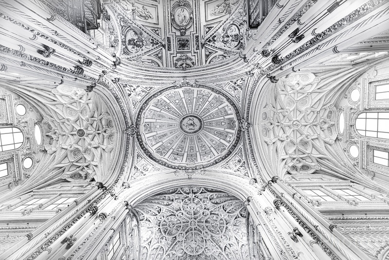 THE MEZQUITA: MOSQUE-CATHEDRAL OF CORDOBA, VIEW OF THE CEILING