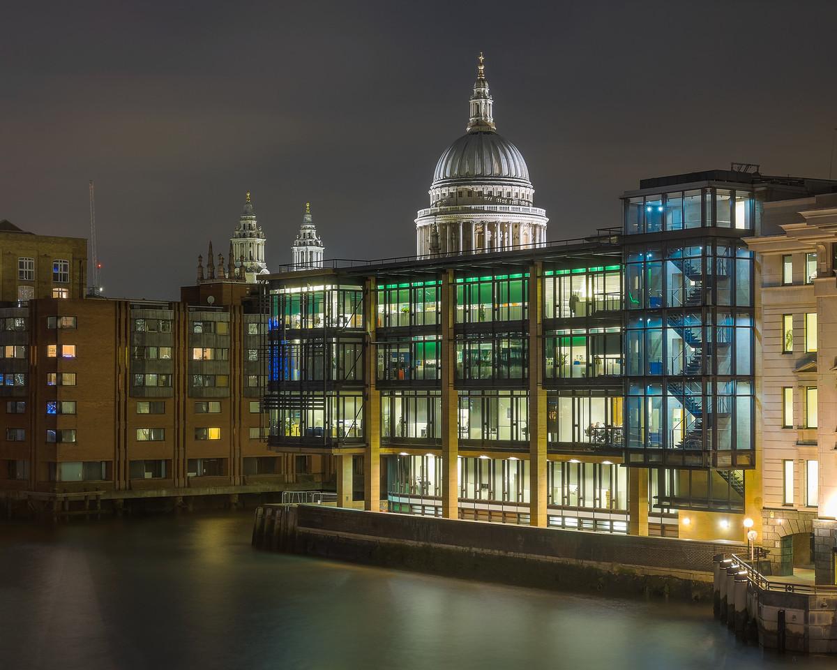 St Paul's from Southwark bridge, London