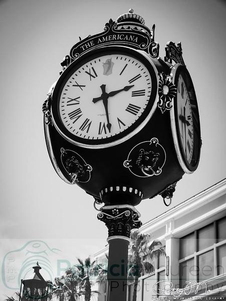 clock tower at the americana at brand