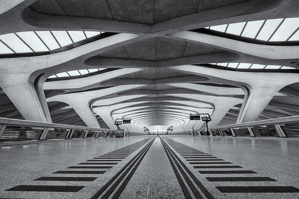 Lyon Saint Exupery TGV station interior