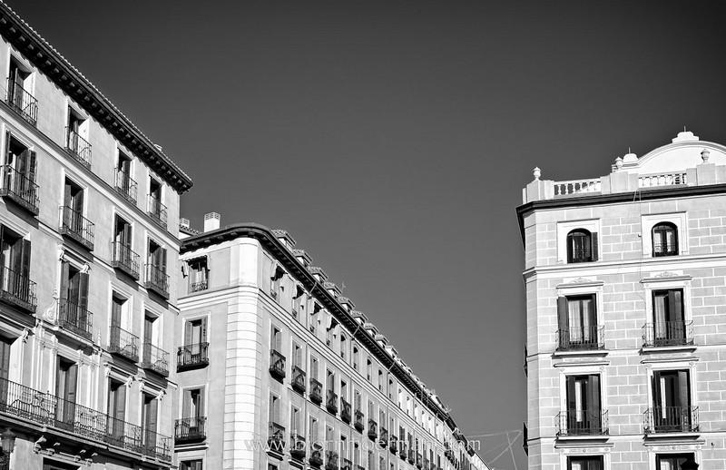 Madrid facades near Plaza Major